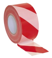 80mm x 100mtr Hazard Warning Barrier Tape, Non-adhesive