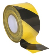 80mm x 100mtr Hazard Warning Barrier Tape, PE film