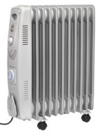 2500W Oil Filled Radiator with Timer, RD2500T