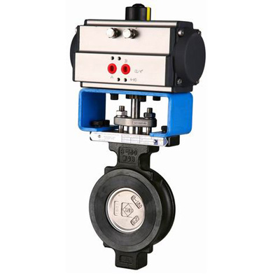 Pneumatic Actuated Butterfly Valves, Wafer, Alloy Steel